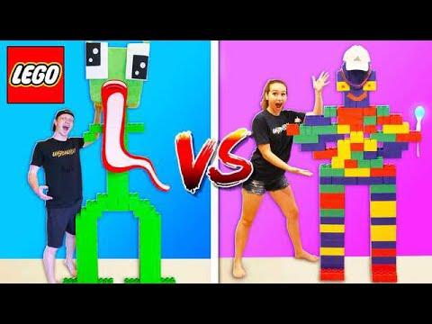 GIRLFRIEND vs UNSPEAKABLE LEGO BUILD BATTLE!