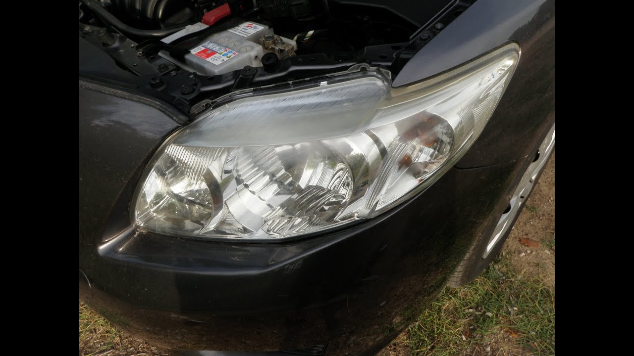 2008 toyota corolla how to remove replace headlight youtube