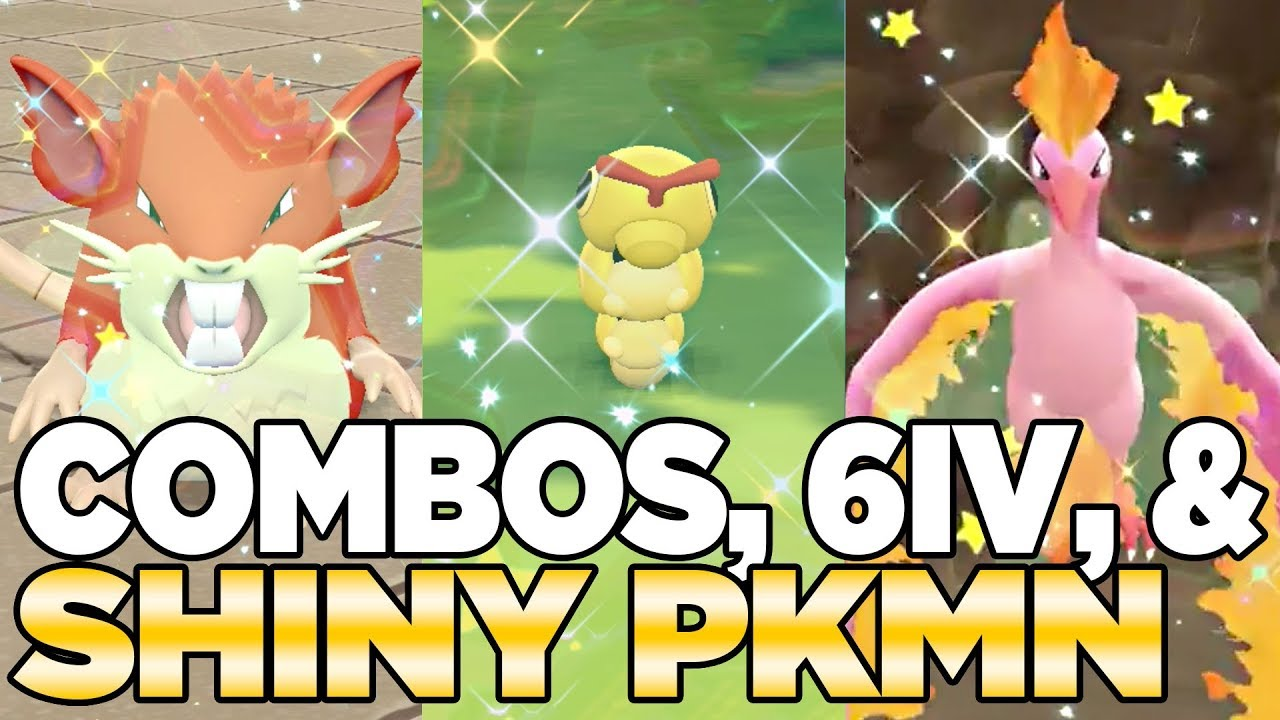 Updated Shiny Combo Odds in Pokemon Let's Go Pikachu & Eevee