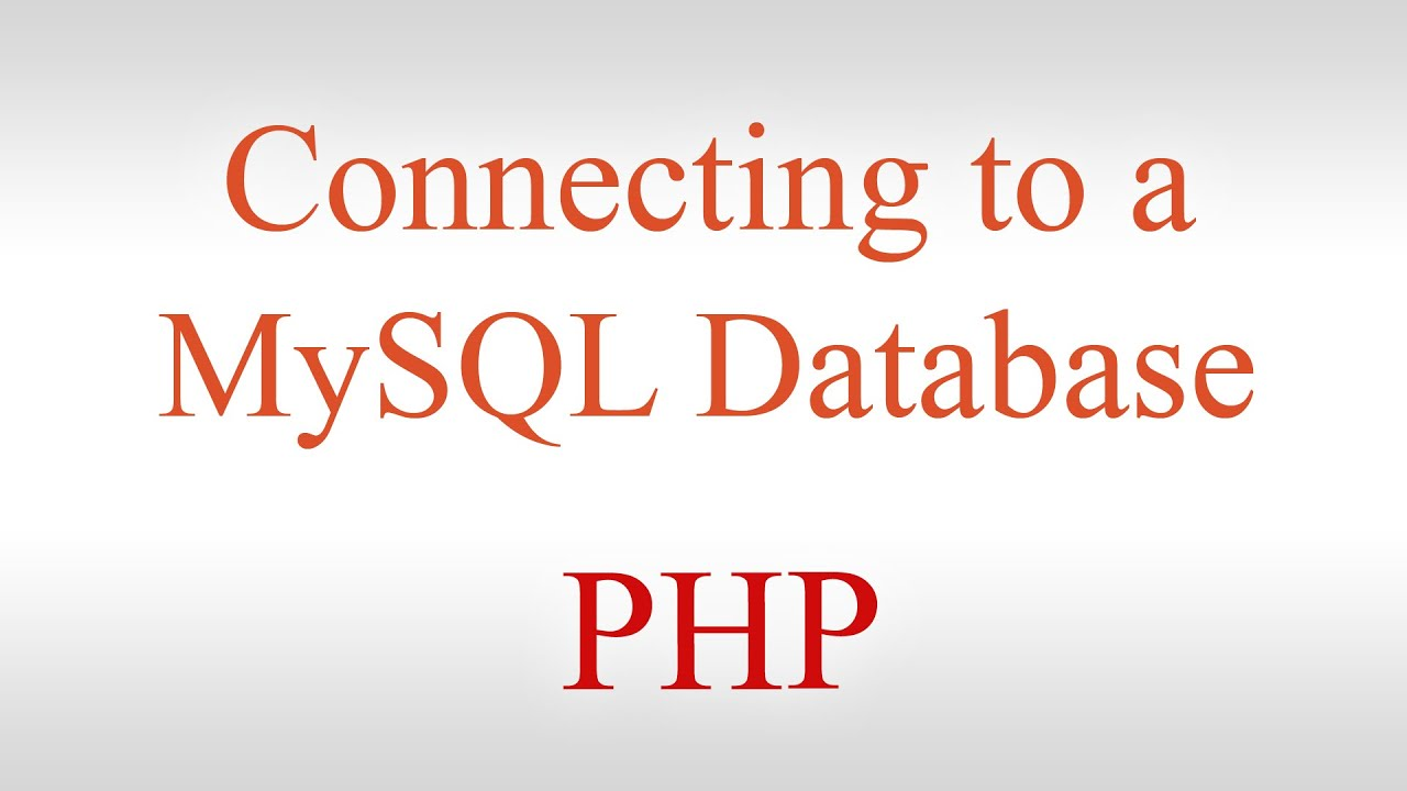 Php tutorial 1 connecting to a mysql database displaying php tutorial 1 connecting to a mysql database displaying records on a web page mysql tutorial baditri Gallery