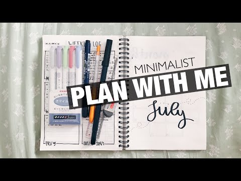 PLAN WITH ME July 2018 | Minimalist Bullet Journal for Blogg