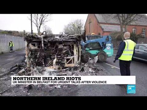 UK minister in Belfast for urgent talks after violence