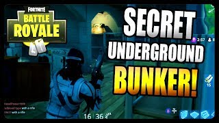 Fortnite Battle Royale: Secret Underground Bunker! *LOTS OF LOOT*