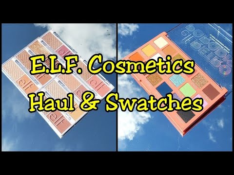 NEW – ELF Cosmetics Haul Bite Size Face Duo's Swatches & Retro Paradise Eyeshadow Palette