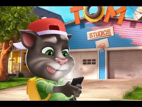 Играем в мини игры с Говорящим Котом Томом. Том примеряет наряд полицейского