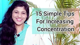 15 Simple Tips for Increasing Concentration Amongst Children
