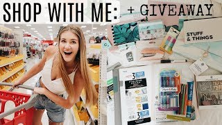 HUGE AESTHETIC BACK TO SCHOOL GIVEAWAY + BTS SHOP WITH ME!