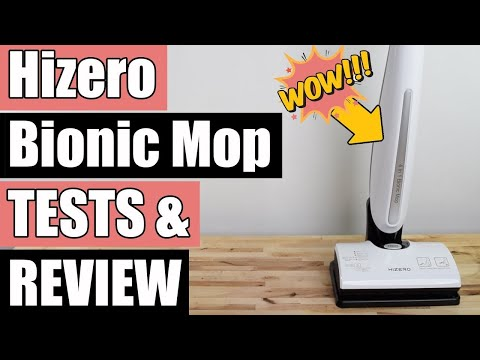 HIZERO Bionic Mop REVIEW- Cordless Wet Dry Hard Floor Cleaner F801 REVIEW