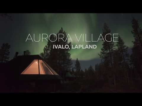 Amazing Auora Borealis at Aurora Village in Ivalo, Lapland
