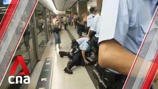 Hong Kong police arrest man at Lok Fu MTR station