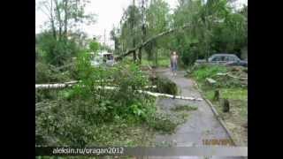 Алексин: Последствия урагана