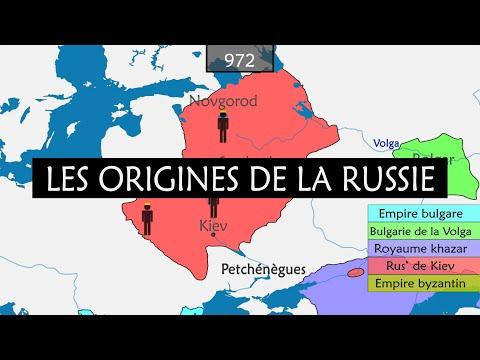 Les origines de la Russie - résumé sur cartes