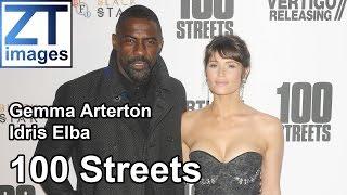 Gemma Arterton and Idris Elba at the film premiere 100 Streets in London, UK.