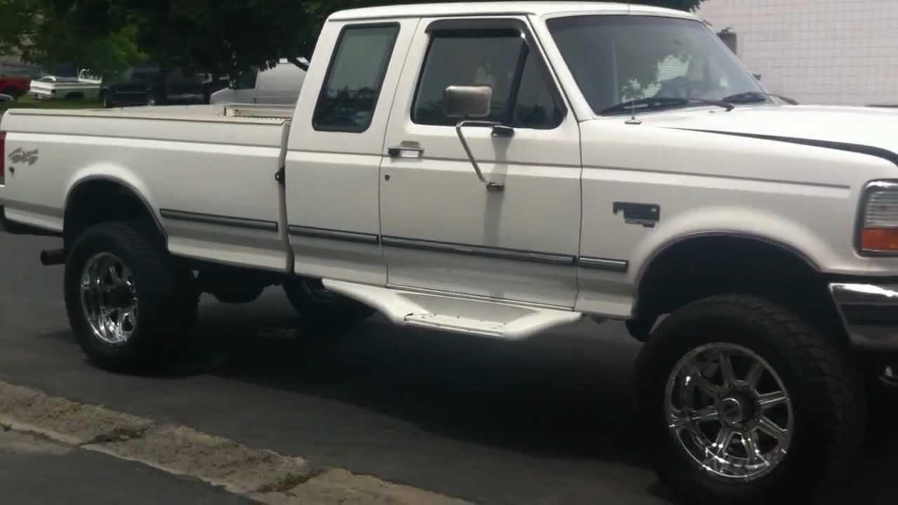 F250 Diesel For Sale >> 1997 FORD F250 XCAB 4X4 182K - CHROME 20'S X 35'S - YouTube