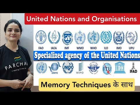 United Nations: SPECIALISED AGENCIES OF UN - with Memory Techniques