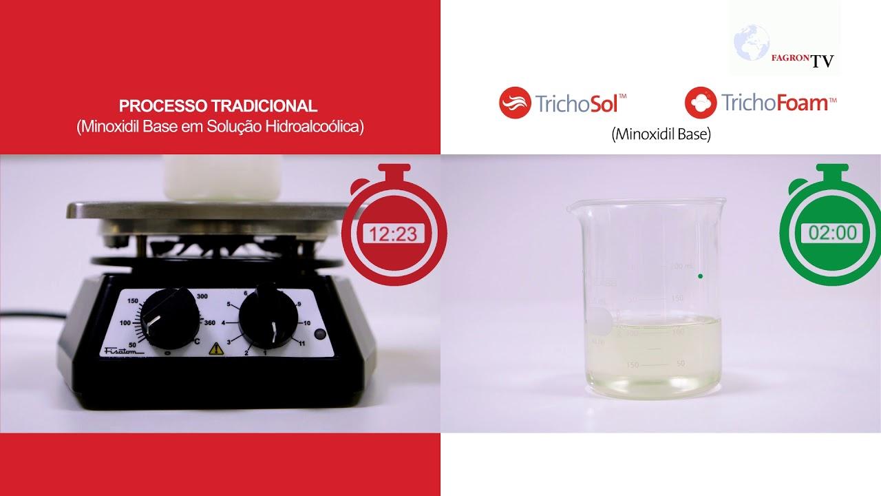 O inovador modo de preparo de TrichoSol™ e TrichoFoam™