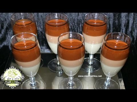 Pana cotta au chocolat --- باناكوطا بالشوكولاطة تحلية راقية