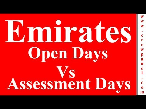 Emirates open day recruitment VS Emirates cabin crew assessment days