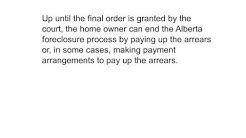 Alberta foreclosure and how it works?