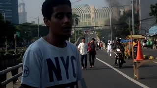 Aksi demo di Tanah abang cideng jatibaru