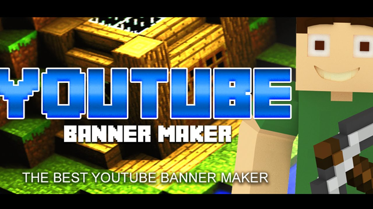 Youtube Banner Maker - Minecraft Channel Template 2 - YouTube