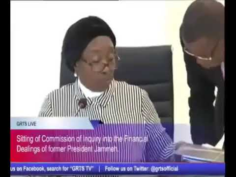 Gambia Commission Of Enquiry - Abdoulie Cham (Former Financial Controller Central Bank) Part 1