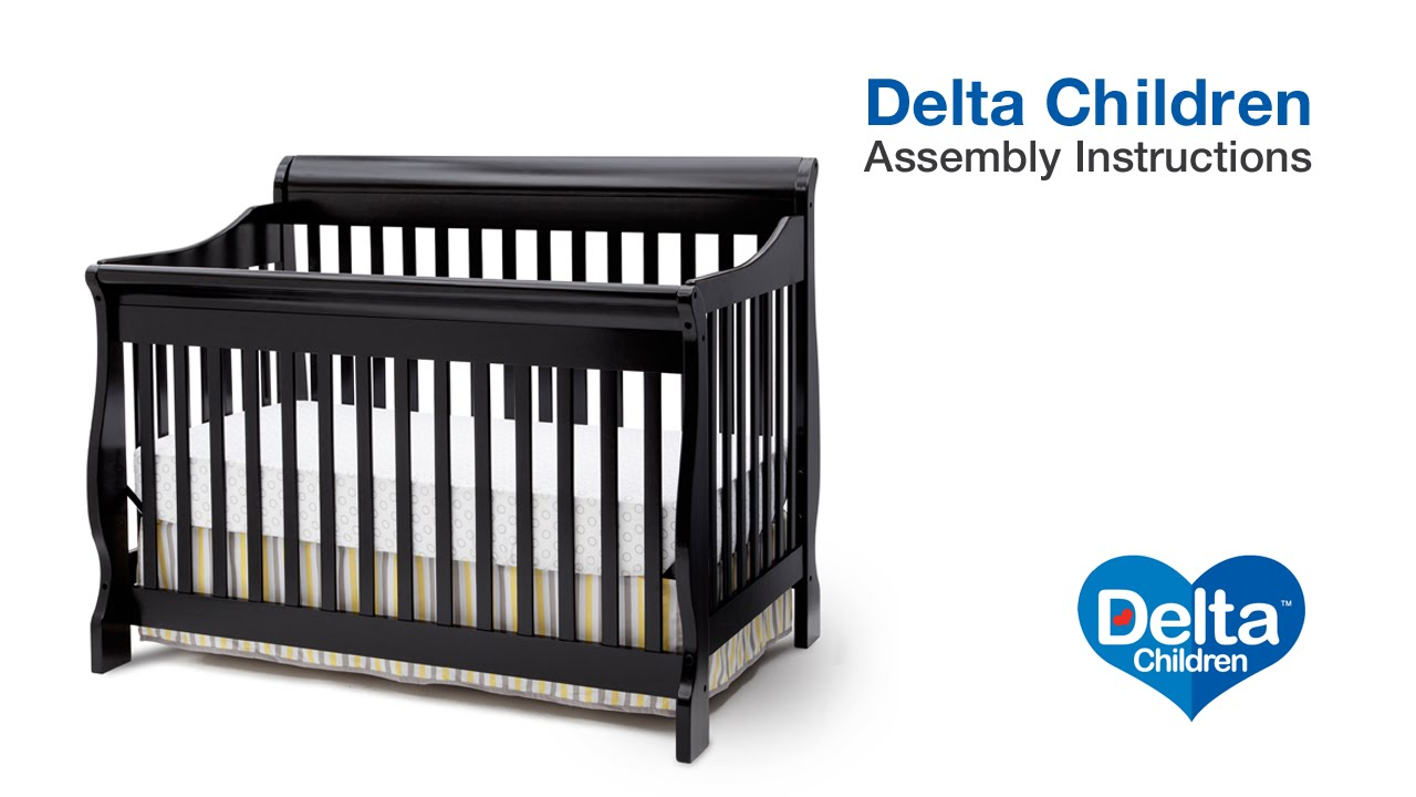 Delta Children Canton 4 In 1 Version B Crib Assembly Video