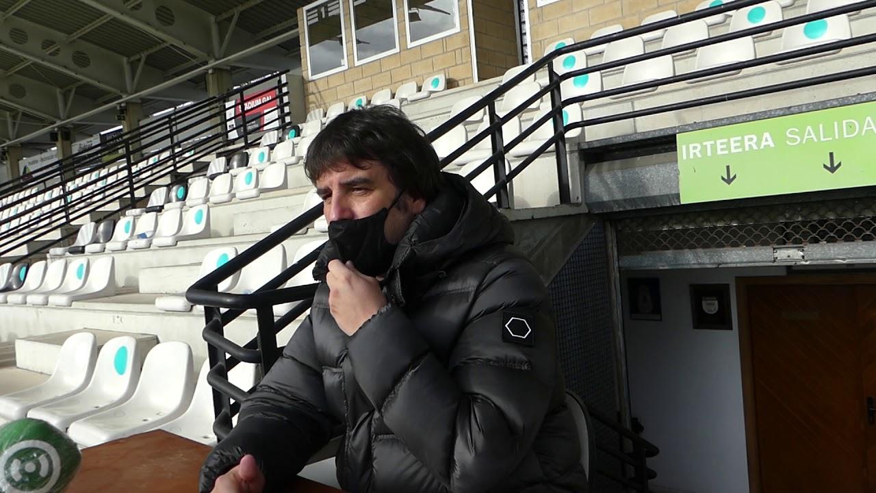 Jornada 20. Aitor Zulaika, en la previa del Real Unión-Racing