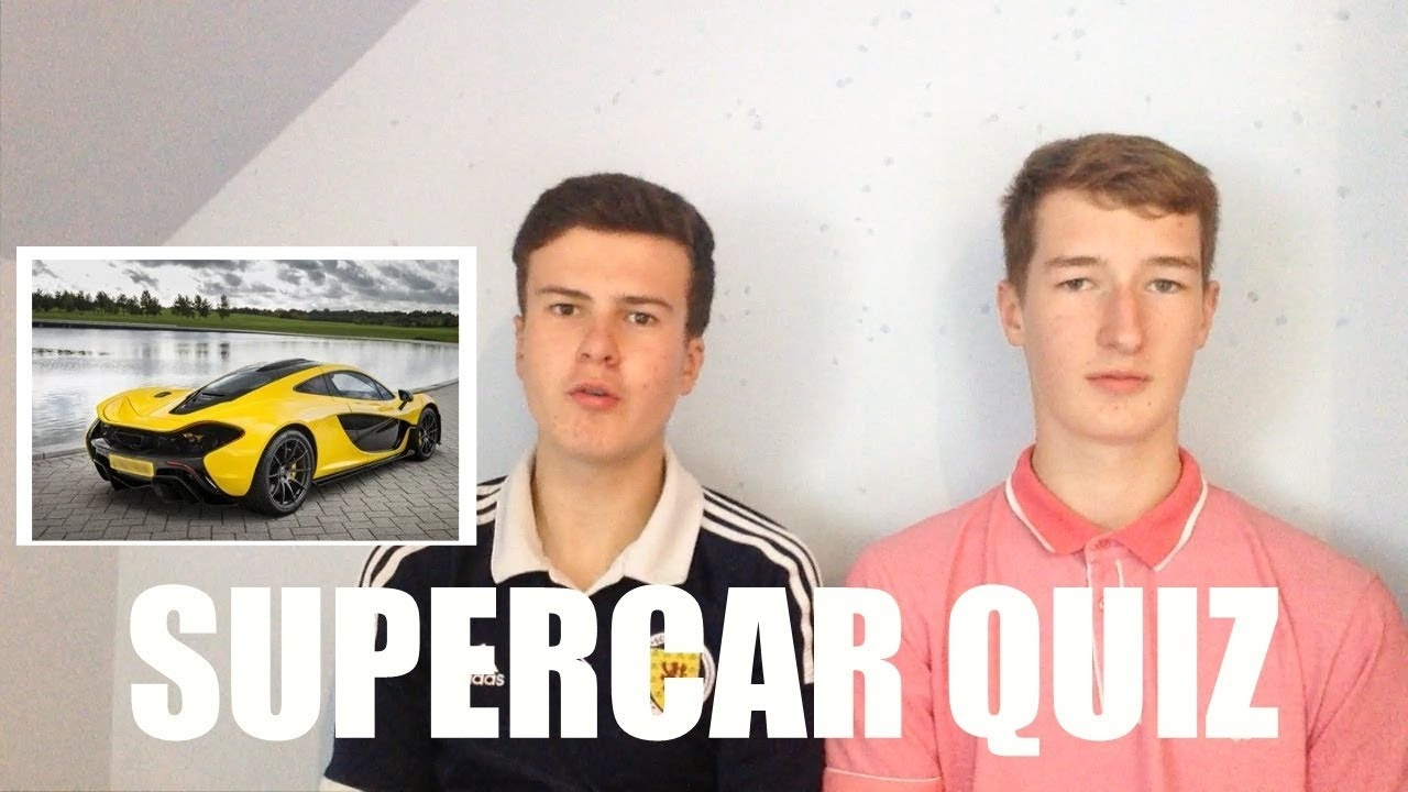 Supercar Quiz W Youtube