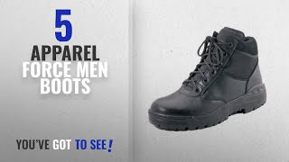 """Top 10 Apparel Force Men Boots [ Winter 2018 ]: Rothco Forced Entry 6"""" Tactical Boots, Black, Size"""