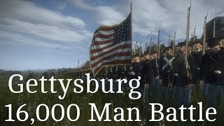 "American Civil War - Gettysburg ""16,000 Man Battle"""