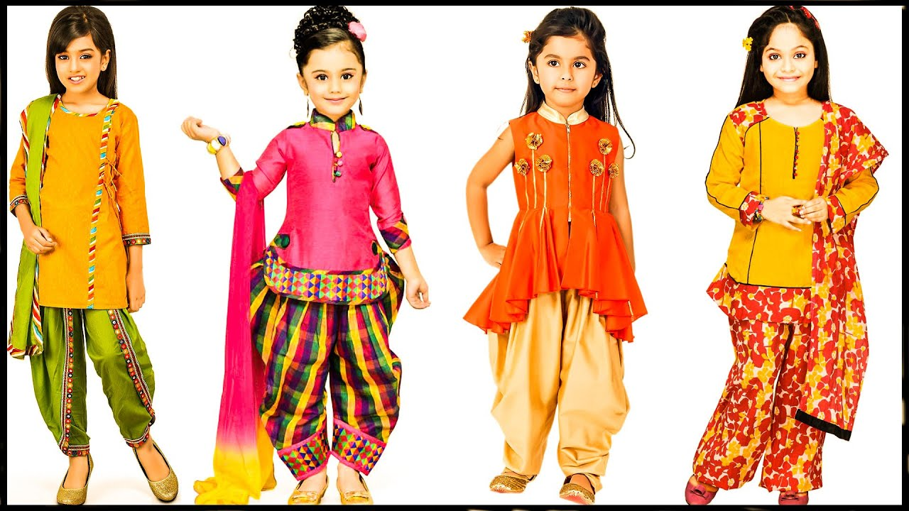 Top 90+ Stylish and Trendy Little Girl cotton Dress Designs for Summers & Eid 2020\\AMBER STITCHING