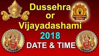 Dussehra 2018 or Vijayadashami Date & Time