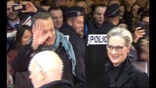 VIDEO Meryl Streep & Tom Hanks @ Paris january 13, 2018 premiere The Post /Pentagon Papers