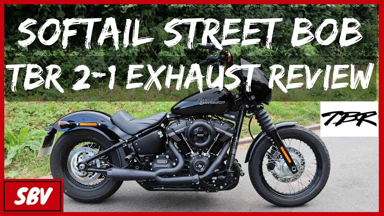 two brothers exhaust sound ride review harley softail street bob fxbb