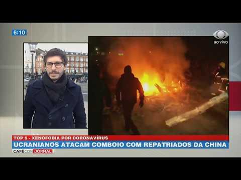 Ucranianos atacam comboio com repatriados da China