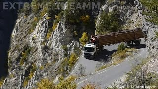 EXTREME TRUCK DRIVERS , DANGEROUS ROAD MERCEDES ACTROS V8