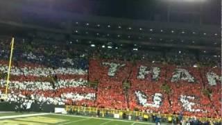 Thank You Veterans (National Anthem - HD): Lambeau Field 11/14/11