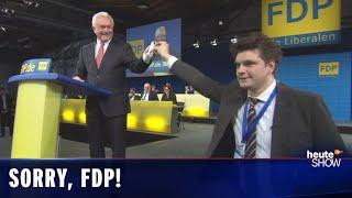 Die FDP fliegt aus dem Bundestag. Und wir bitten um Entschuldigung.