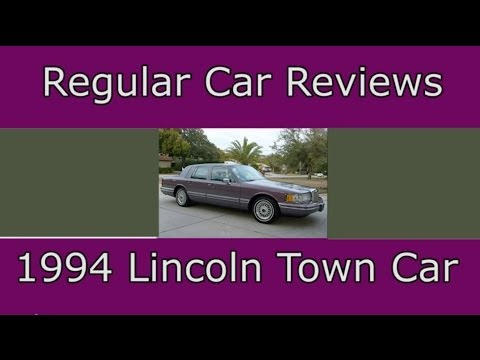 Regular Car Reviews 1994 Lincoln Town Car Youtube