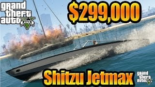 GTA 5 Online - (Grand Theft Auto V ) Gameplay Bought Shitzu Jetmax Boat & Test Drive [ Full HD ]