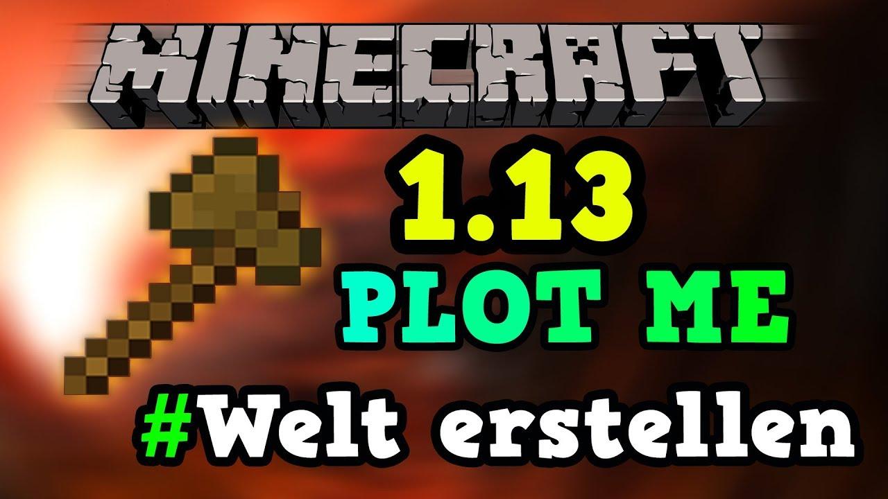 PlotMe Welt Erstellen Minecraft Tutorial German - Minecraft server welt erstellen