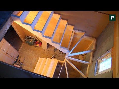 Деревянная лестница с забежными ступенями. Опыт горожанки // FORUMHOUSE