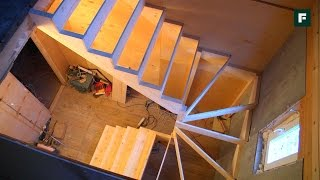 Деревянная лестница с забежными ступенями. Опыт горожанки // FORUMHOUSE(Практически ни один частный дом не обходится без лестницы. Какую лестницу выбрать, что влияет на тип и конф..., 2015-11-30T09:06:54.000Z)