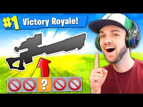 The 1 GUN CHALLENGE in Fortnite: Battle Royale! (HARD)