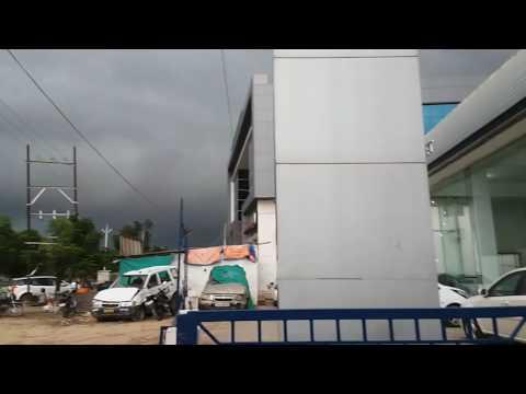 Mehsana amazing rainy  atmosphere dangerous look