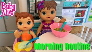 Baby Alive Mermaid Morning Routine And Swimming In The Pool