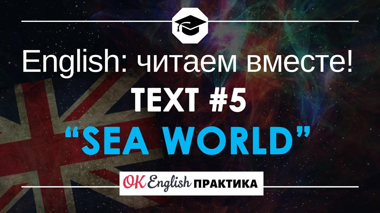 #5 Sea World (Морской мир) 📘🇺🇸 Читаем вместе на английском языке короткие английские рассказы