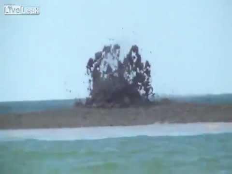 Вулкан проснулся на пляже Азовского моря