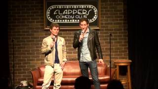 Blind Guy Asks Comedian With Stutter For Kiss While Comedian With Tourettes Instigates